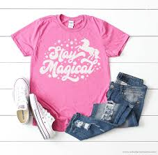 Subscribe to unoriginal mom via email and get instant access to my library of free silhouette studio & svg cut. Stay Magical Unicorn Shirt With 16 Free Unicorn Cut Files Artsy Fartsy Mama