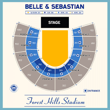 Forest Hills Stadium Seating Chart Concert Belle And Sebastian