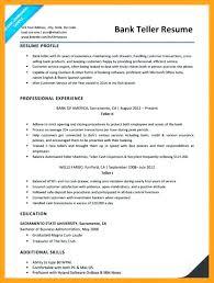 Bank Resume Samples Teller No Experience Teller Resume Samples Free