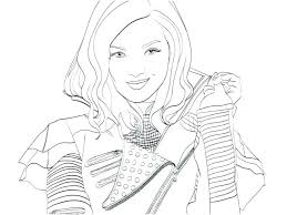 Disney Descendants Evie Coloring Pages Mal And S Page For Your Idea