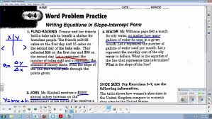 lin alg 4 word problem practice for slope intercept form you maxresde point slope form practice