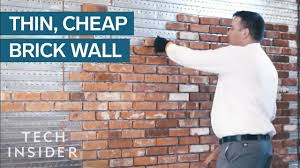 Thin <b>Brick Wall</b> Is Cheaper And Quicker To Install Than The Real ...