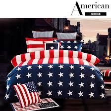 American Memory Velour Bedclothes Usa Us Flag Bedding Stars And