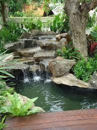 Garden Ponds Designs Magnificent Pinspiration 48 Stylish Backyard Garden Waterfalls WATER