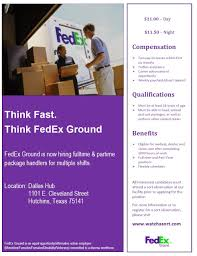 Fedex Sort Observation Fedex Ground Needs Package Handlers In Hutchins Tx Check Them Out