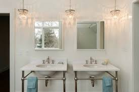 captivating small bathroom chandelier crystal chandeliers with for remodel 1