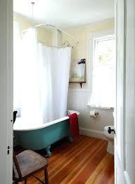 bathtub shower curtain rod round for tub clawfoot bath rail australia