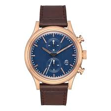 stainless steel bezel rose gold mens brown leather male watches under 100