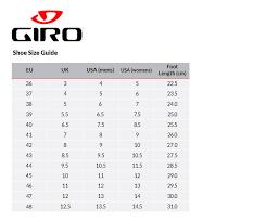 Cycling Shoe Size Chart 51 Methodical Shimano Shoe Size Guide