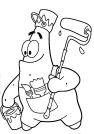 Patrick Spongebob Coloring Pages Star Coloring Pages For Spongebob