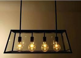 edison bulb pendant lighting bulb pendant light metal glass box shape bulbs pendant lighting modern filament chandelier retro vintage 3 edison bulb pendant