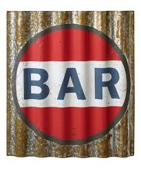 bar corrugated metal wall sign