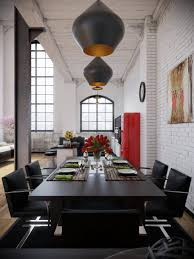 industrial loft lighting. 47 Types Nifty Industrial Loft Black Dining Seting With Opaque Pendant Lighting Modern Like Architecture Interior Design Follow Us Moravian Stars N