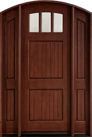 residential front doors craftsman. Mahogany Solid Wood Front Entry Door - Single With 2 Sidelites Residential Doors Craftsman L