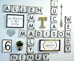 wall decor letters large letter size of personalised tiles family n for nursery