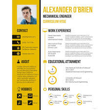 Mechanical Engineer Resume Magnificent 60 Mechanical Engineering Resume Templates PDF DOC Free