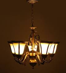 aesthetics antique chandelier with 5 lamp shades