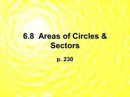 10 7 areas of circles and sectors form g answers area circumference sectors ppt video online download