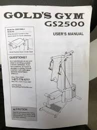 Gold S Gym Gs 2500 Exercise Chart Gold S Gym Gs2500 Workout Weight Machine