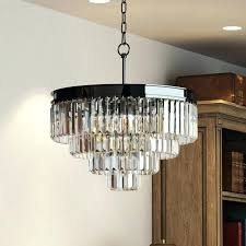 odeon crystal chandelier glass fringe