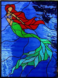 Mermaid Stained Glass Pattern
