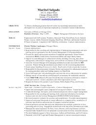 Contract Administrator Resume Samples A Good Resume Example