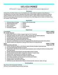 Perfect Tips Write Nanny Resume Sample
