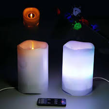 Flameless Candle Plug In Night Light Us 16 49 35 Off Led Candle Projection Light With Remote Timer Control Flameless Novelty Projector Flickering Usb Night Light For Children Gift In