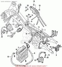 Honda cb160 sport 1964 usa wire harness battery parts list