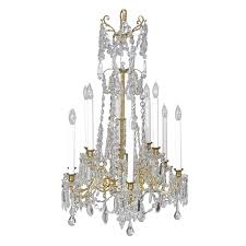 scandinavian cut glass and crystal chandelier with twelve lights circa 1880 for