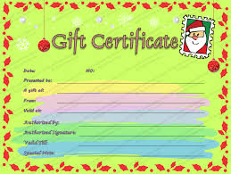 Christmas Letter Gift Certificate Template