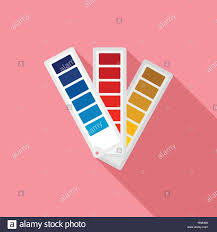 Paper Pantone Color Chart Icon Flat Illustration Of Paper