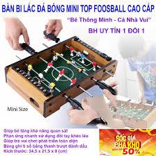 Bộ đồ chơi bàn bi lắc đá bóng bằng gỗ 4 tay đánh 2 bên cho bé