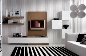 Striped Rug In Living Room Unusual Wallpaper For Walls Design In The Living Room With Wall