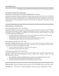 Executive Assistant Resume Sample Resume Examples For Administrative