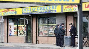 police investigate the shooting at el campesino deli