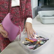 most makeup can remain in your cosmetic bag when ping through security