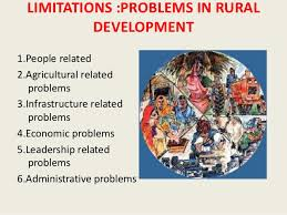 rural development in   21 limitations problems in rural development1