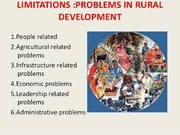 rural development in   21 limitations problems in rural development1