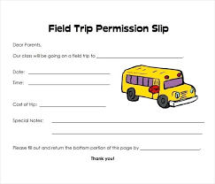 Permission Slip For Field Trips Printable Permission Slip Trip Template Moontex Co