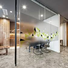 office decorative. Fine Office Static Cling Stained Glass Window Film Frosted U0026 Opaque Privacy Office Decor  Digital Print Removable BLT1035 Inside Decorative R