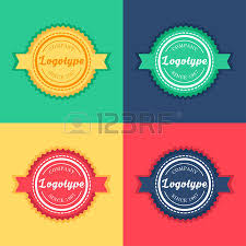 Label Templates Free Cool Vintage Badge And Label Templates Set In Green Yellow Red And