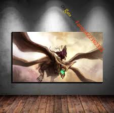 flight of the four winged badass premium art print hd canvas prints wall art for home decorunframed party decorations oil painting party decorations oil  on flight canvas wall art with flight of the four winged badass premium art print hd canvas prints