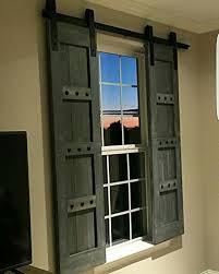 amazon interior barn shutters interior window barn door sliding shutters barn door shutters with hardware farmhouse style rustic wood