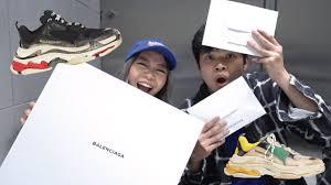 Balenciaga Sneakers Women S Size Chart Balenciaga Triple S Unboxing Review
