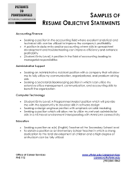 Sample Resume Objectives For Accounting Positions New Sample Resume