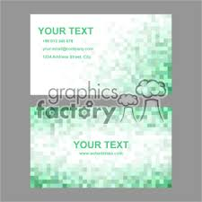 Vector Business Card Template Set 009 Clipart Royalty Free Clipart