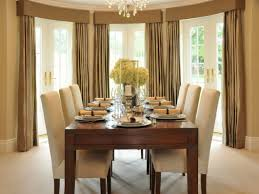 formal dining room ideas. Formal Dining Room Decorating Ideas With Beautiful Flower Arrangement And Brown Drapes