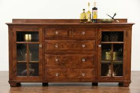 craftsman 1910 antique sideboard cabinet tv console photo