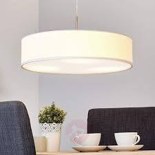 fabric pendant lighting. White Sebatin LED Fabric Pendant Lamp-9620321-32 Lighting